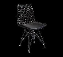 Cilek Dark Metall Stuhl, schwarz