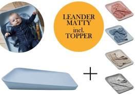 Leander Matty Wickelauflage + Topper Pale Blue Cool Grey