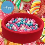 Bio Premium Bällebad LOLLIPOP in hibiskusrot mit 300 Bällen aus Zuckerrohr