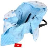BabyLux 'Sterne' Einschlagdecke 90x90 cm, blau