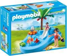 Playmobil Summer Fun 6673 'Babybecken mit Rutsche', 22 Teile, ab 4 Jahren