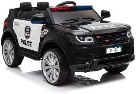 Kinderfahrzeug Elektro Auto Kinder Jeep Polizei Design 12V 2x35W 2,4Ghz USB Mp3