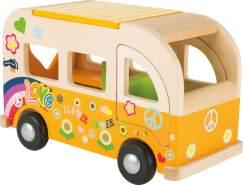 """Toller Spielbus """"Hippie"""" aus Holz, 31 x 16 x 19 cm, von Legler"""