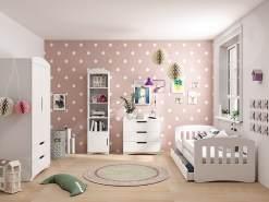 Mirjan24 'Classic' 4-tlg. Kinderzimmer-Set 80x140 cm, Weiß