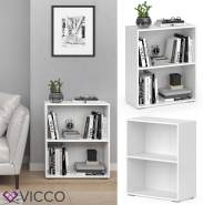 VICCO Bücherregal EASY S Weiß Standegal Wandregal Aktenregal Schrank Büro