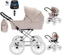 Friedrich Hugo Natureline Uni | 4 in 1 Kombi Kinderwagen | ISOFIX Set | Farbe: Catherine Silver