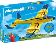 PLAYMOBIL Sports & Action 70057 'Wurfgleiter Wasserflugzeug', 14 Teile, ab 6 Jahren