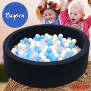 Bio Premium Bällebad BAYERN in dunkelblau mit 300 Bällen aus Zuckerrohr