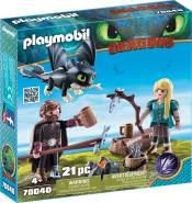Playmobil Dragons 70040 'Hicks und Astrid mit Babydrachen', 21 Teile, ab 4 Jahren