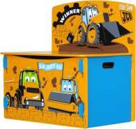 JCB Spieltisch, Spielregal, Spielbox, Spielzeugkiste