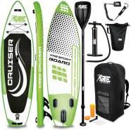 RE:SPORT® SUP Board 320cm Grün aufblasbar Stand Up Paddle Set Surfboard Paddling Premium