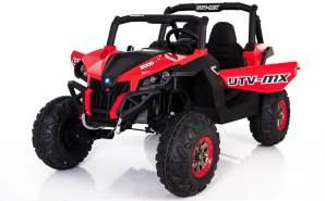 Kinder Elektro UTV Auto LEDER 4x 45W 2x12V 14Ah (2x7Ah) 2. 4Ghz RC 2 Sitzer Pink