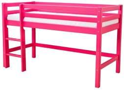 Hoppekids 'Basic' Halbhochbett pink, 90x200 cm