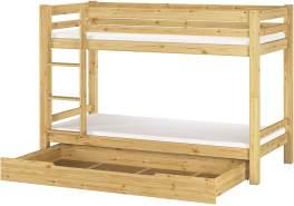 Erst- Holz Etagenbett Kiefer natur 90x200 inkl. Bettkasten