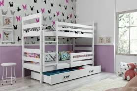 Stylefy Kera Etagenbett 80x190 cm Weiß Weiß