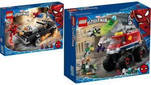 LEGO® Marvel Super Heroes 2er Set: 76173 Spider-Man und Ghost Rider vs. Carnage + 76174 Spider-Mans Monstertruck vs. Mysterio