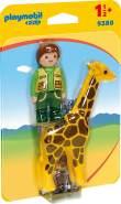 Playmobil 1.2.3 9380 'Tierpfleger mit Giraffe, 2 Teile, ab 1,5 Jahren