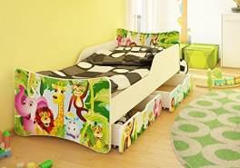 Best For Kids Kinderbett mit Schaummatratze 90x200, grün