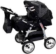 Kinderwagen Magnum + Autositz Cosmic Black & Snowflakes ohne Isofix-Ausstattung mit Winterfußsack Schurwolle ohne Sonnenschirm