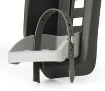 Fußstützen mit Riemen Polisport für Guppy Mini, grau, Paar