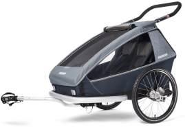Croozer 'Kid Vaaya 2' Fahrradanhänger 2020, Graphite Blue, 2-Sitzer