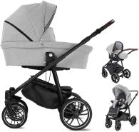 Minigo Beat | 3 in 1 Kombi Kinderwagen Luftreifen | Farbe: Grey