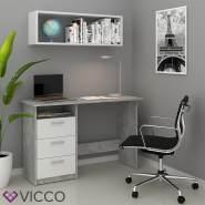 VICCO 'Meiko' Schreibtisch, Weiß/Beton