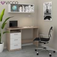 VICCO 'Meiko' Schreibtisch, Weiß/Sonoma/Eiche