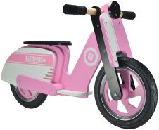 Kiddimoto - Scooter Laufrad, pink/weiß (412 )