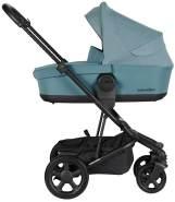 EasyWalker 'Harvey 2' Kombikinderwagen3in1 Ocean Blue Soho Grey/ inkl. Babywanne, Cybex Babyschale