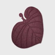 Nofred Leaf Babydecke Burgundy