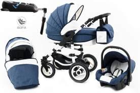 Tabbi ECO LN | 4 in 1 Kombi Kinderwagen | Hartgummireifen | Farbe: Blue
