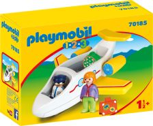 Playmobil 1.2.3 70185 'Passagierflugzeug', 5 Teile, ab 1,5 Jahren