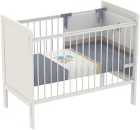 Polini Kids Kinderbett Babybett 120 x 60 cm Simple 220 weiß