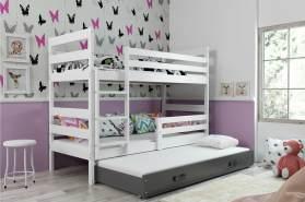 Stylefy Kera mit Extrabett Etagenbett 80x190 cm Weiß Graphit