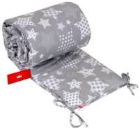 BabyLux 'Strenbild' Nestchenmit mit Kopfschutz 210 x 30 cm, grau