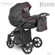Camarelo Maggio Kombikinderwagen Mg-1 schwarz/ rot