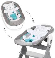 HAUCK 'Hearts Grey' Neugeborenen Aufsatz / Alpha Bouncer 2in1