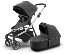 Thule - Sleek inkl. Thule Babywanne Aluminium Shadow Grey Kollektion 2020