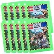 CAGO Lego Jurassic-World - Sammelsticker - 10 Tüten + Collect-it Sleeves