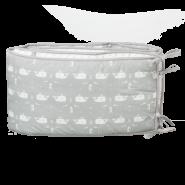 Fresk Nestchen für Babybett 180 cm Wal grau