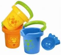 Gowi 558-11 Lustige Baby Eimer, 3teilig, in der Box, Wasserspielzeug
