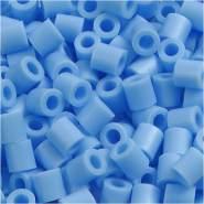 Bügelperlen, Größe 5x5 mm, Lochgröße 2,5 mm, Pastellblau 23, Medium, 6000 Stück