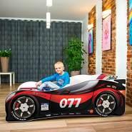 Nobiko Autobett schwarz/rot 160 x 80 cm