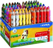 LYRA Groove Triple I Holzaufsteller mit 72 Farbstiften Sortiert