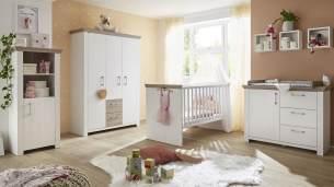 Mäusbacher 'NEW YORK' 7-tlg. Babyzimmer-Set anderson pine/nelson eiche