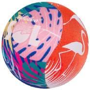 spritzball SolFlamingo 9 cm Schaumstoff/Lycra rot/grün