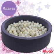 Bio Premium Bällebad BALLERINA in malve mit 300 Bällen aus Zuckerrohr