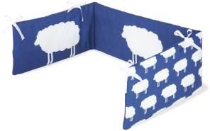 Pinolino 'Happy Sheep' Bettnestchen blau/weiß
