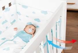 Pinolino 'Sternchen' Nestchen für Kinderbetten grau
